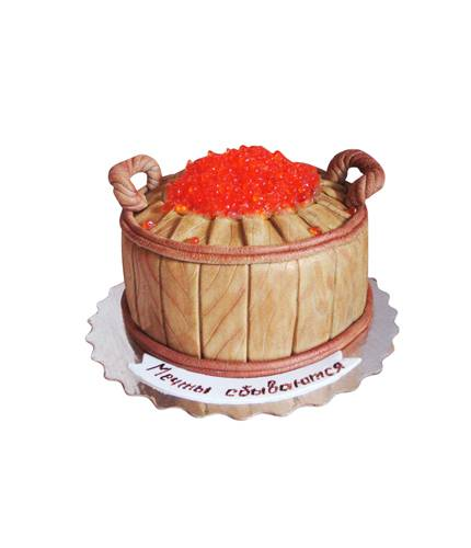 Торт Бочка с икрой