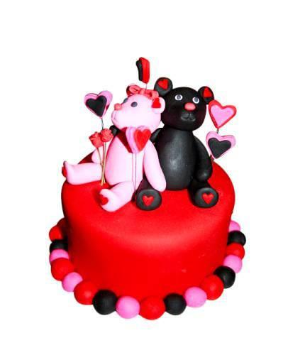 Торт влюбленные меджвежата