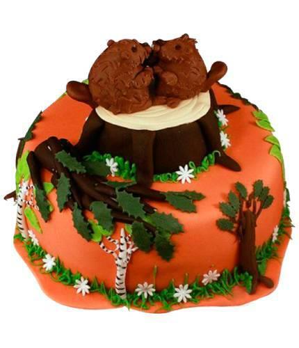 Торт с бобрами