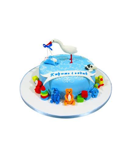 Торт Аист и игрушки