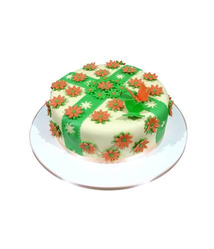 Цветочный торт