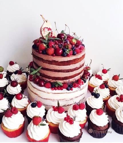Торт в стиле «Рустик»