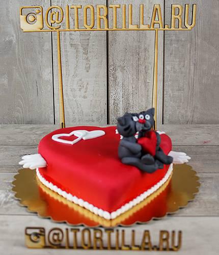 Торт целующиеся котята