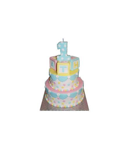 Торт с кубиками на годик