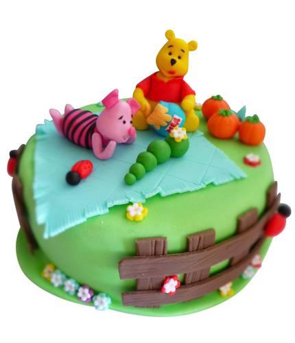 Торт Винни и Пятачок
