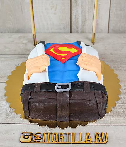 Торт мужчина Супермен
