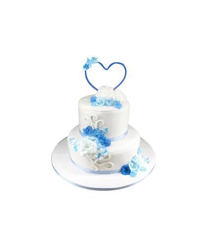 Свадебный торт с сердцем