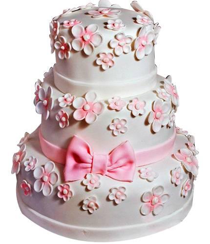 Торт с розовым бантом
