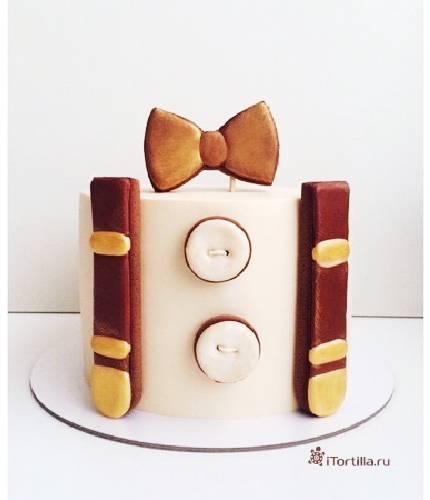 Торт с бантом и погонами