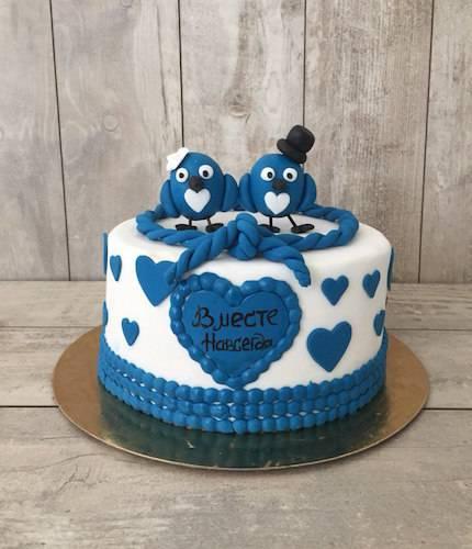 Торт с птичками