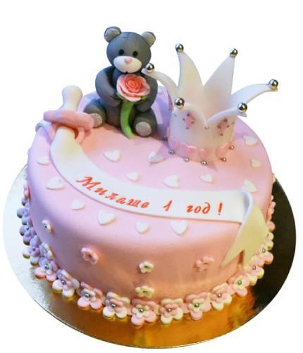 Торт Мишка и корона
